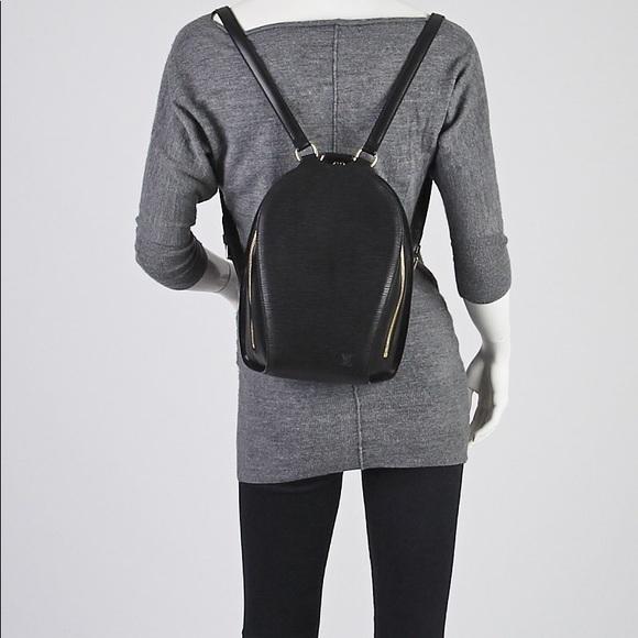 68396e140d65 Louis Vuitton Handbags - Louis Vuitton Black Epi Leather Mabillon Backpack